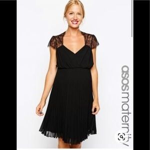 Asos Maternity Black Cocktail Party Dress size 8